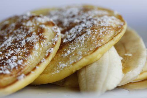 Bill Granger - (Sydney's master of all things breakfast) ricotta & banana hotcakes