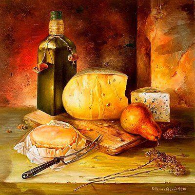 Пазл Натюрморт с сыром — собрать пазл онлайн