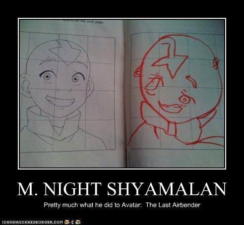 m night shyamlan avatar aang avatar legend of korra