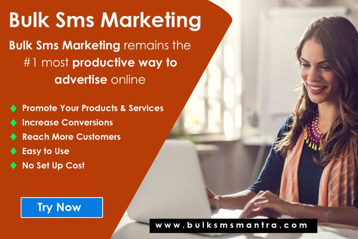 Try bulksmsmantra.com/ Bulk sms Marketing services today to boost customer retention and to increase revenue. Unleash our easy to use Bulk sms marketing solution. http://www.bulksmsmantra.com/