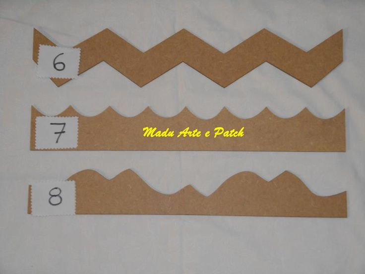 Régua de MDF para barrado. | Madu Arte Patch Acessórios e Bordados | Elo7
