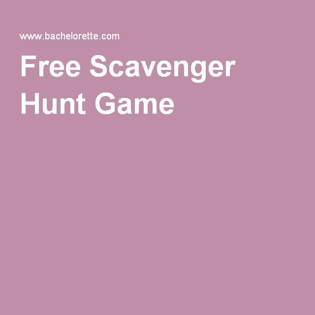 Free Scavenger Hunt Game