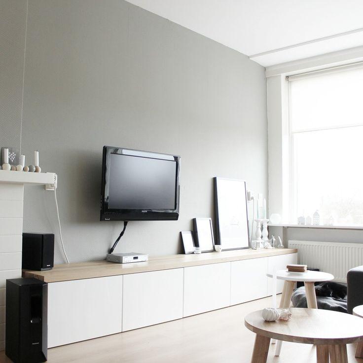 mijn tv meubel besta hack eiken blad woonkamer pinterest tvs ikea and met. Black Bedroom Furniture Sets. Home Design Ideas