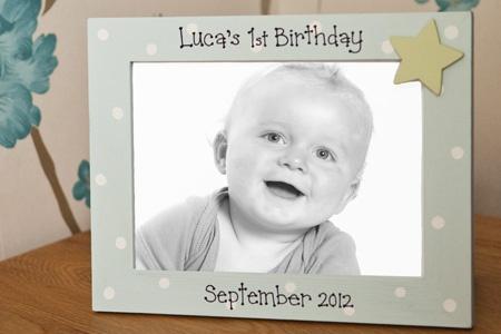 Personalised baby's 1st Birthday Photo Frame