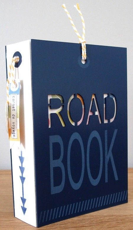 Road book - I love this idea.  Making a vacation book to store your memories of the trip!
