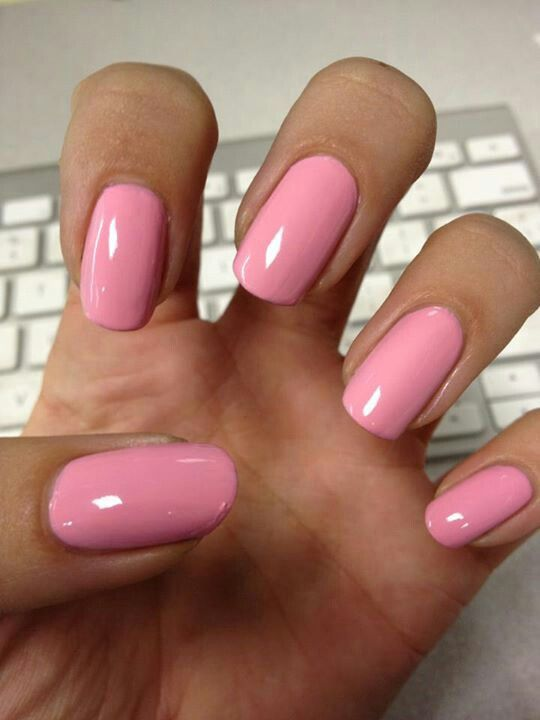 Perfect squoval nails; not too squared
