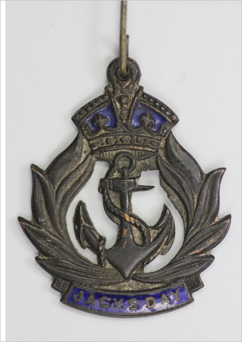 WW1 Jacks Day Badge . For Sailors and Merchant  Marine Crew.