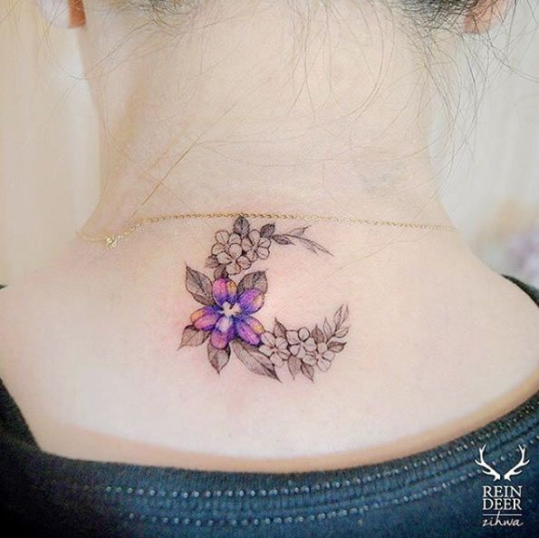 49 Beautiful Back Neck Tattoos: 17 Best Ideas About Back Of Neck Tattoo On Pinterest