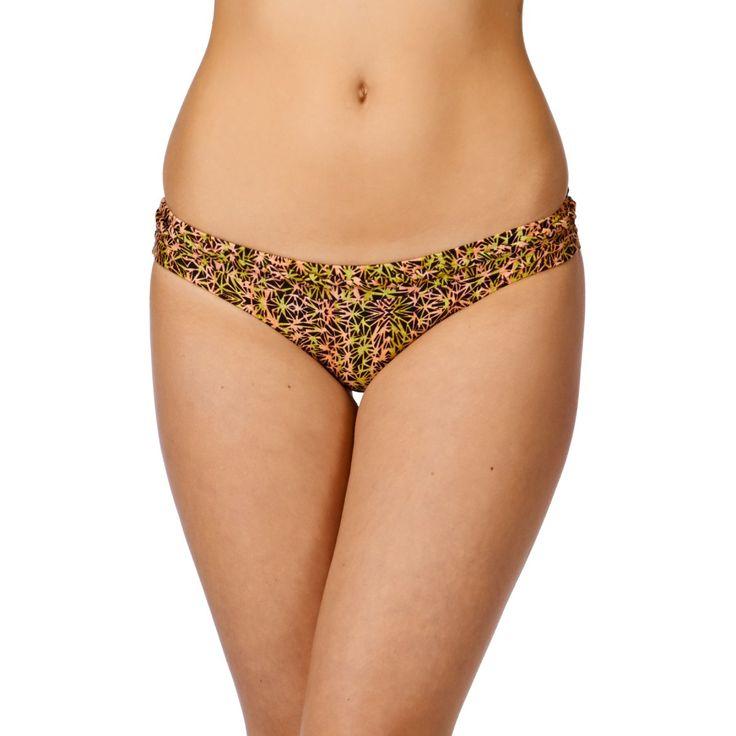 Women's RVCA Bikini Bottoms - RVCA Hola Hombre Cheeky Bikini Bottom - Peach Out