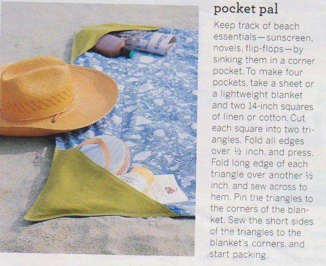 Beach towel with corners