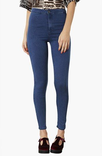 Topshop Moto 'Joni' High Rise Skinny Jeans (Dark Stone) (Regular & Long) available at #Nordstrom