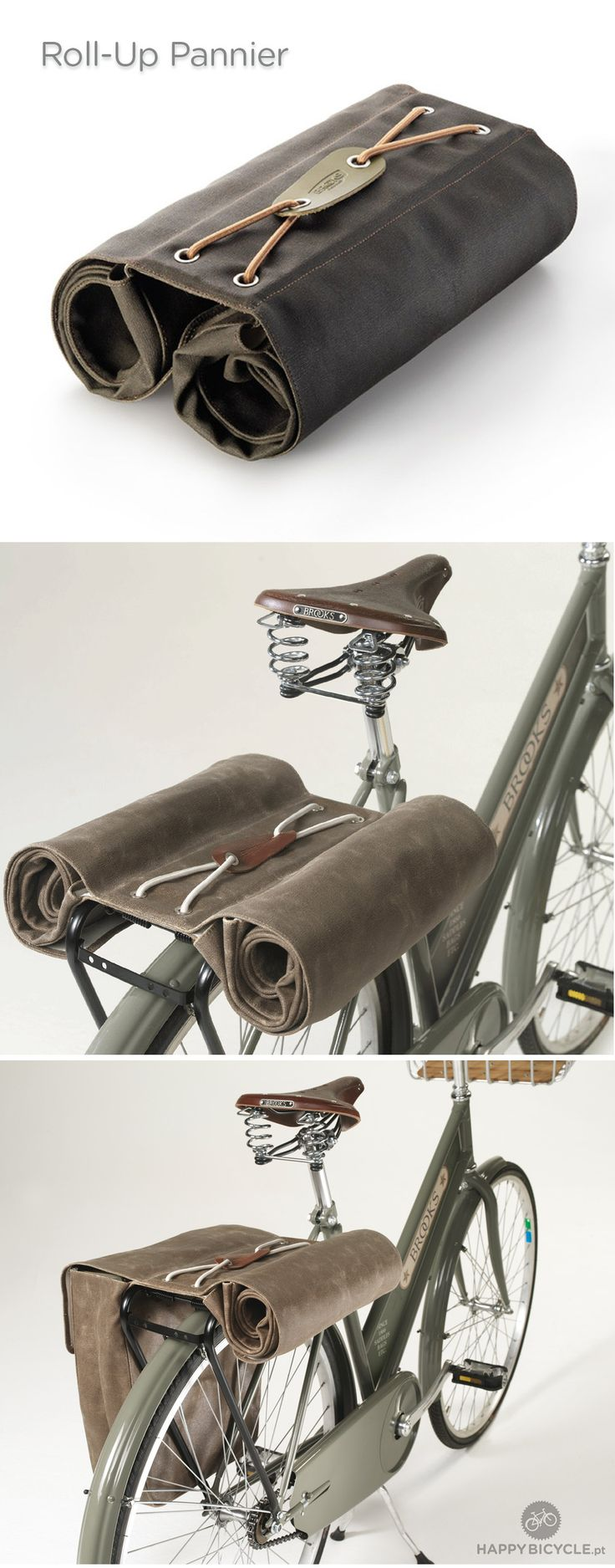BRICK LANE ROLL-UP PANNIERS Brooks https://uk.pinterest.com/uksportoutdoors/road-bikes/pins/