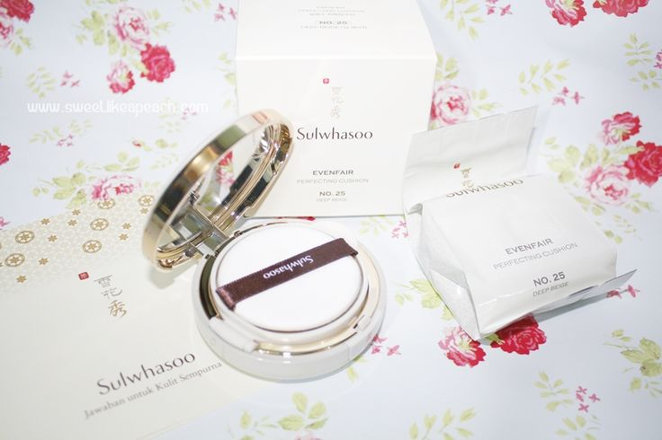 Sulwhasoo Evenfair Perfecting Cushion for my daily makeup. Read full review on my blog <3