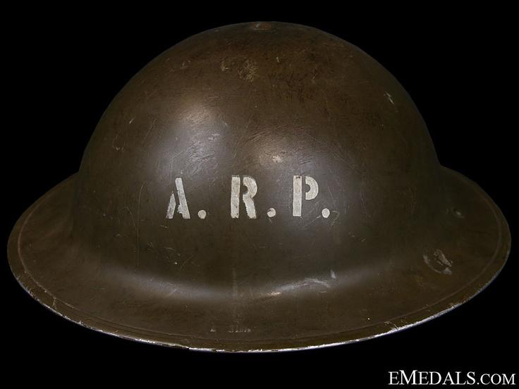 WWII Mark II Air Raid Precautionary (ARP) Helmet