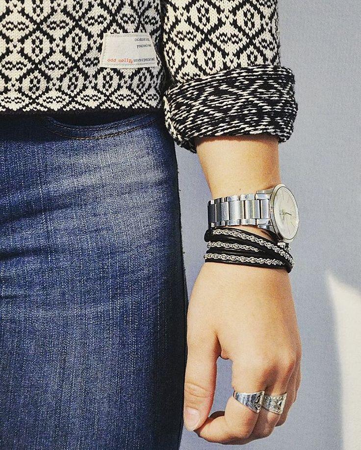 """Stilsäkra Hanna bär Makila Designs trevarvs armband """"Lima"""" 👌#makiladesign…"""