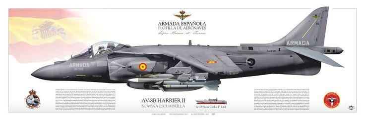 """SPANISH NAVY . ARMADA ESPAÑOLA FLOTILLA DE AERONAVES NOVENA ESCUADRILLABASE NAVAL DE ROTA / LHD """"Juan Carlos I"""" L-61"""