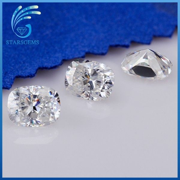 White EF Color VVS Cushion Cut Professional Manufacturer Of Moissanite Diamond From China.