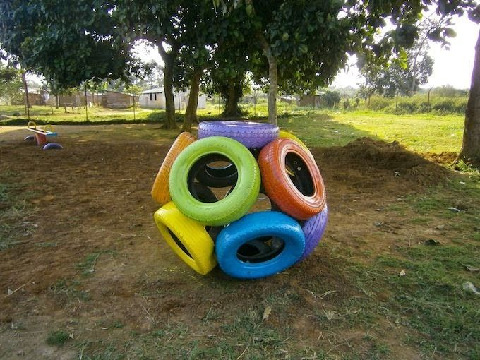 Brinquedos feitos com pneus