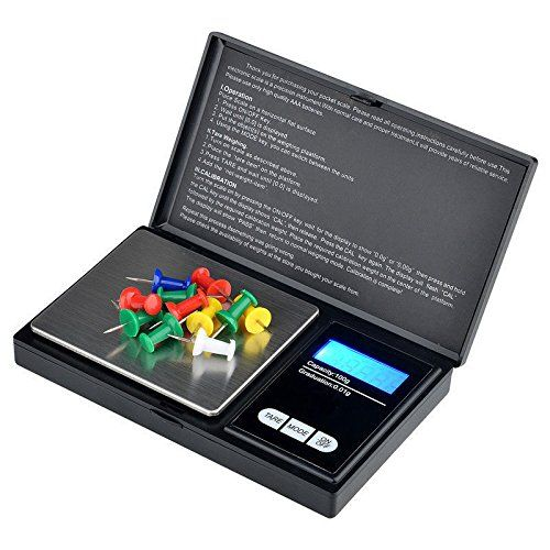 Tech Traders  Pocket Scaleportable Digital Scale With Back-lit Lcd Display Elite Digital Pocket Scale 200 X 0.01g Mini Scales 200g Mini Digital Weighing Scale