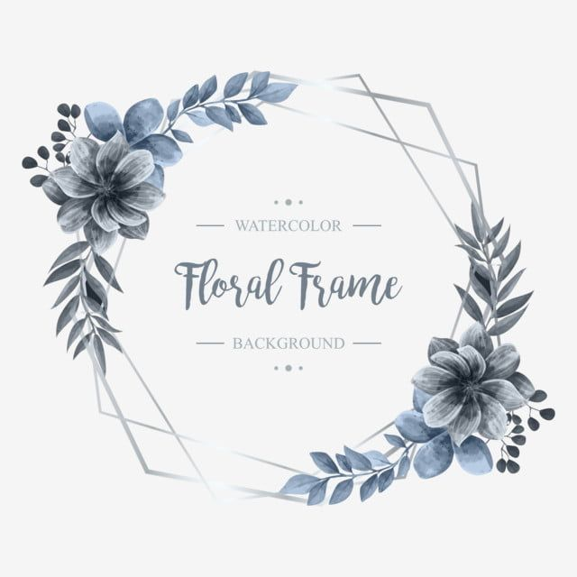 Fundo De Quadro De Flor Floral Aquarela De Casamento Fundo Padronizar Flor Imagem Png E Vetor Para Download Gratuito Flower Drawing Flower Frame Floral Wreaths Illustration