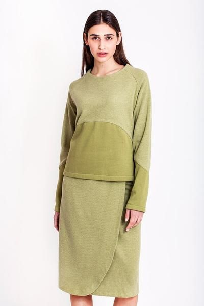 SALES - now €50.00 was €100.00.   Pistachio sweatshirt by Chicks on Chic
