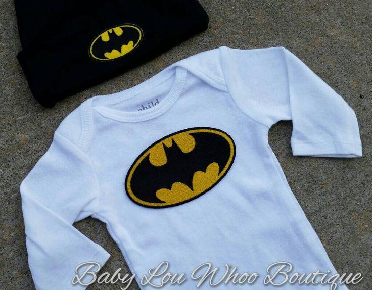 Batman onesie and hat set .. batman onesie .. baby boy onesie set .. batman baby boy .. coming home outfit .. photo prop by BabyLouWhoo on Etsy https://www.etsy.com/listing/220577291/batman-onesie-and-hat-set-batman-onesie