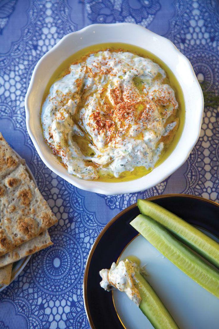 Cucumber-Mint Yogurt Dip Recipe — Dishmaps