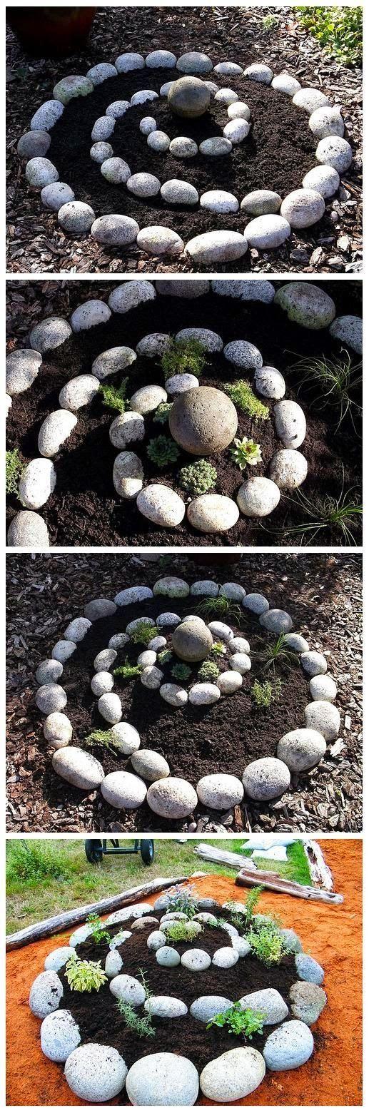 40 ιδέες για σπιράλ κατασκευές κήπου!