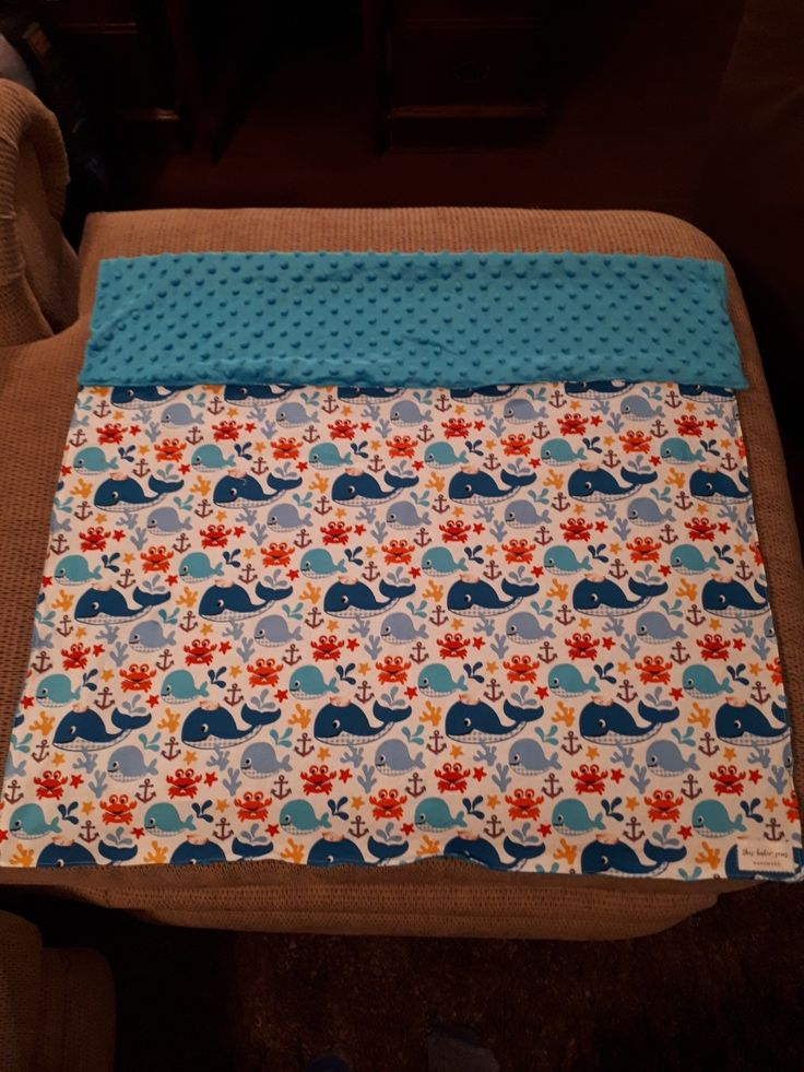 Cute whale themed blanket made by 'this baker sews'