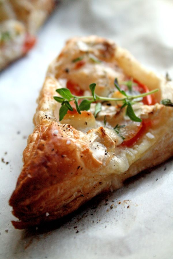 Goat Cheese & Tomato Triangles