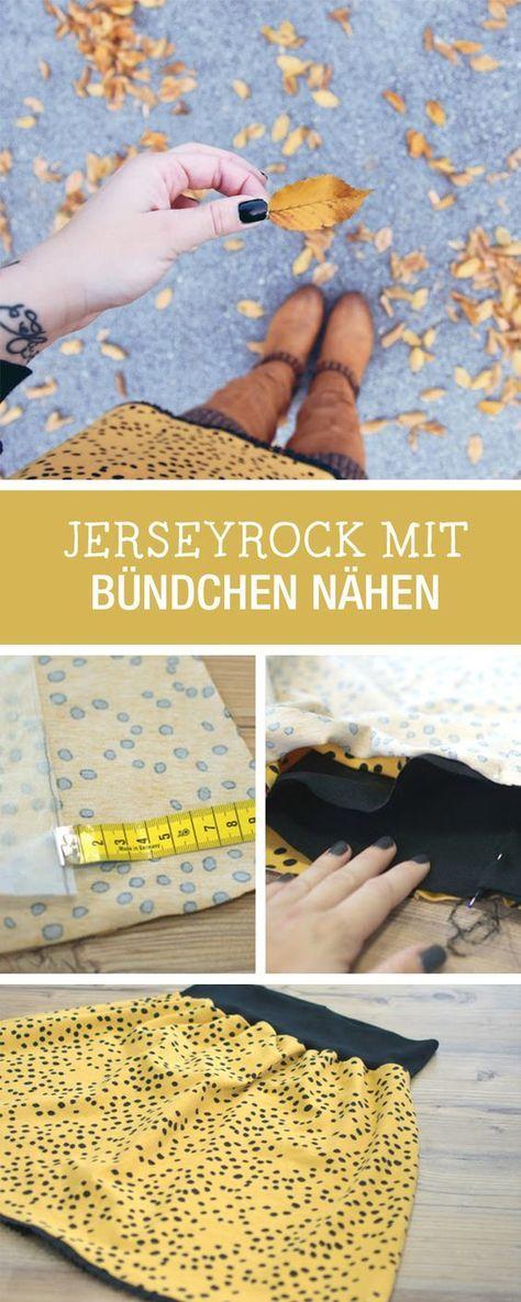 DIY-Anleitung: herbstlichen Rock aus Jersey in nur 5 Minuten nähen, Minuten-DIY / DIY tutorial: sewing autumnal jersey skirt in only 5 minutes, last-minute DIY via DaWanda.com