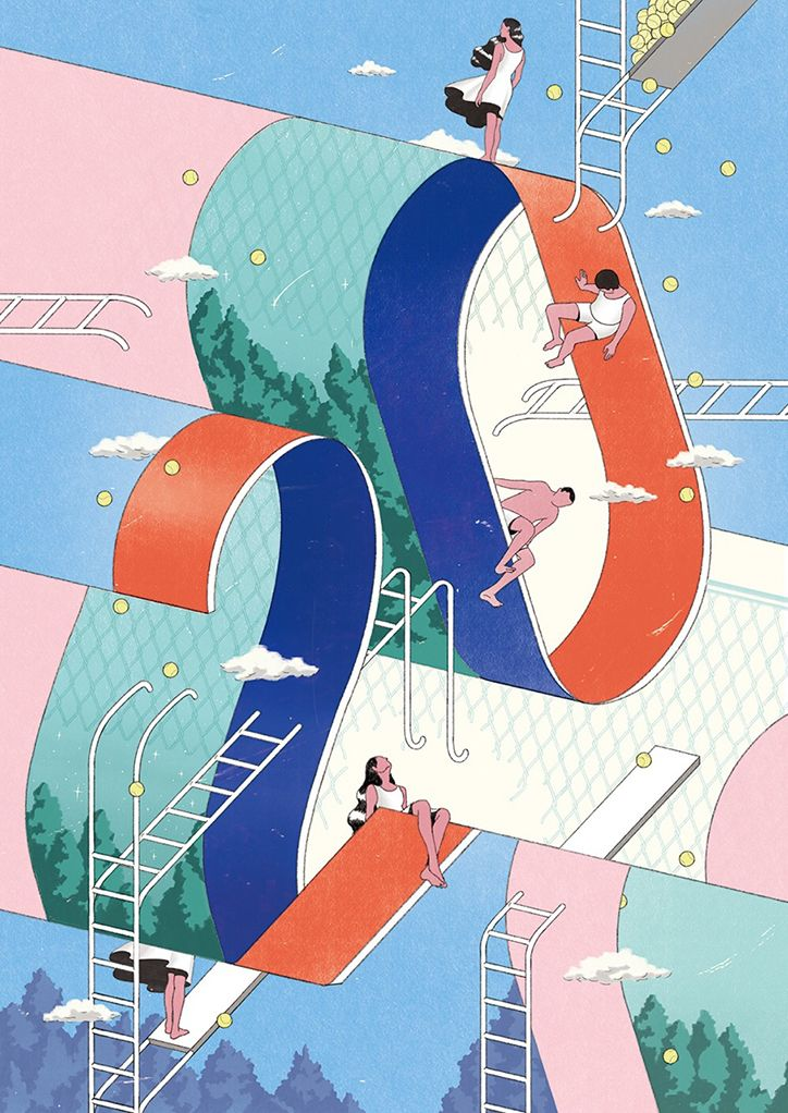 South Korean graphic designer Jee-ook Choi's illustrations simplify the complex milieu of life - PLAIN Magazine