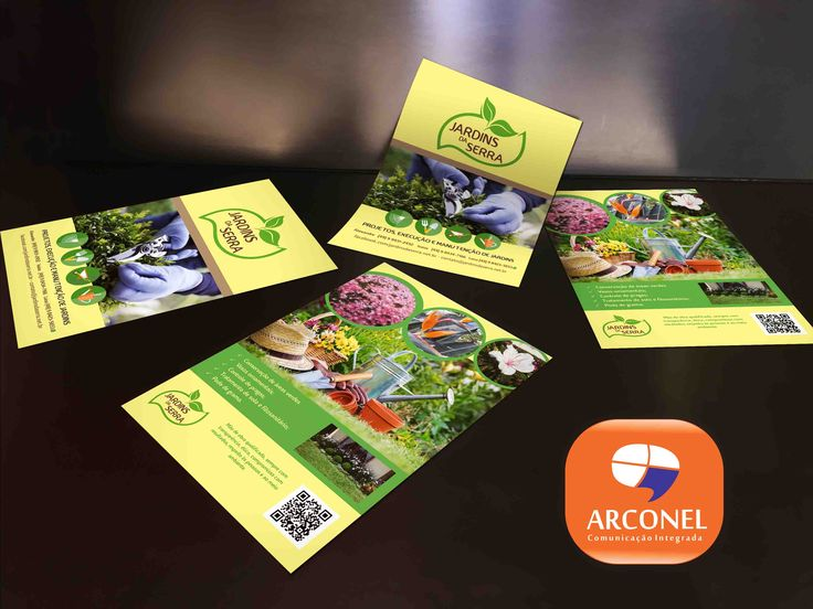 Saindo do forno. Flyer Jardins da Serra. Impresso em papel couché. É uma maneira prática de apresentar a empresa em reuniões, apresentações e também fazer aquela divulgação em pontos comerciais.