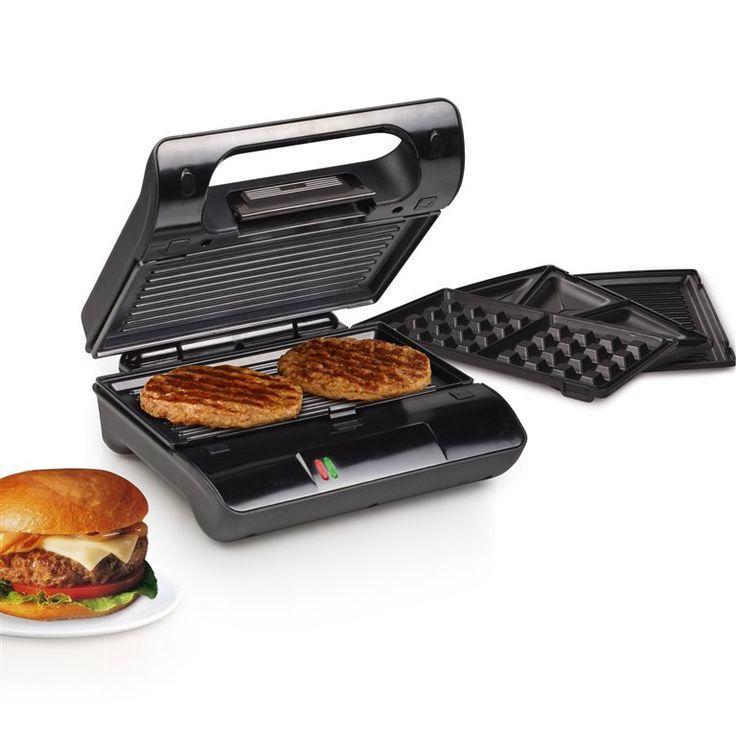 Met de Princess Multi & Sandwich Grill Compact Pro maak je klaar wat je maar wilt. Deze contactgrill is namelijk geschikt voor tosti's, paninis, vlees, groenten en wafels of sandwiches! Gebruik hem voor een overheerlijk ontbijt, lunch of diner!