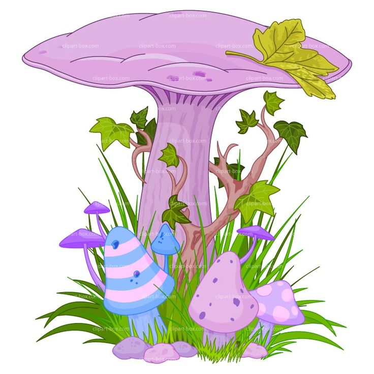 Magical mushrooms and fairies clipart magic mushroom for Garden design graphics