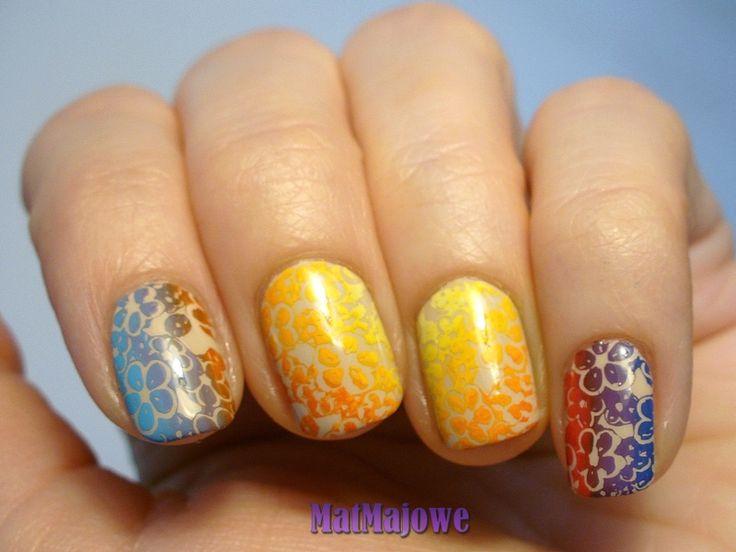 Multicolour stamping http://matmajowe.blogspot.com/2015/05/multicoloured-stamping.html