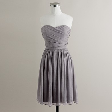 J.Crew strikes again: J Crew, Dresses Collection, Grey Bridesmaid Dresses, Jcrew, Blue Bridesmaid Dresses, Chiffon Dresses, Cute Bridesmaid Dresses, Chiffon Bridesmaid Dresses, Grey Dresses