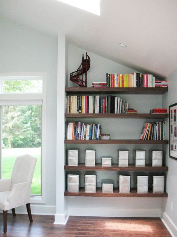 Add wall paper to a corner nook for a pop of style. dropitmodernHOME.COM
