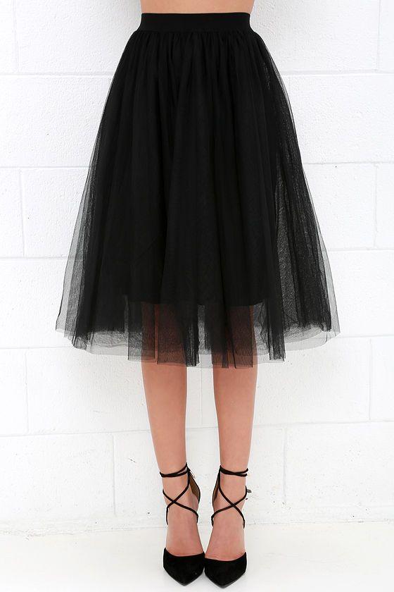 Urban Fairy Tale Black Tulle Skirt at Lulus.com!