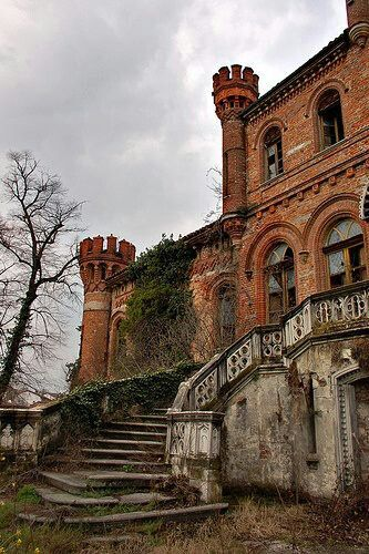 Villa Grosso di Grana in the Piedmont region of Italy. This lovely abandoned mansion was built in the early 1850's by Count Carlo Amedeo Grosso and designed by architect Luigi Formento. By the early 1900's the villa became Count Solaro Vittorio Monasterolo. It was once surrounded by a large park which included a bit of forest, a garden and a long driveway.