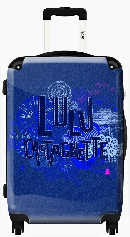 Suitcase Lulu blue pattern