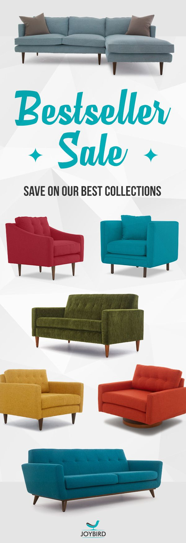 Make a statement with iconic mid-century modern furniture from Joybird. Enjoy free in-home white glove delivery, lifetime warranty, a solid 365-day return policy, plus 0% financing for qualified buyers. Shop Joybird now and take 20% off our best collections today during our Bestseller Sale!
