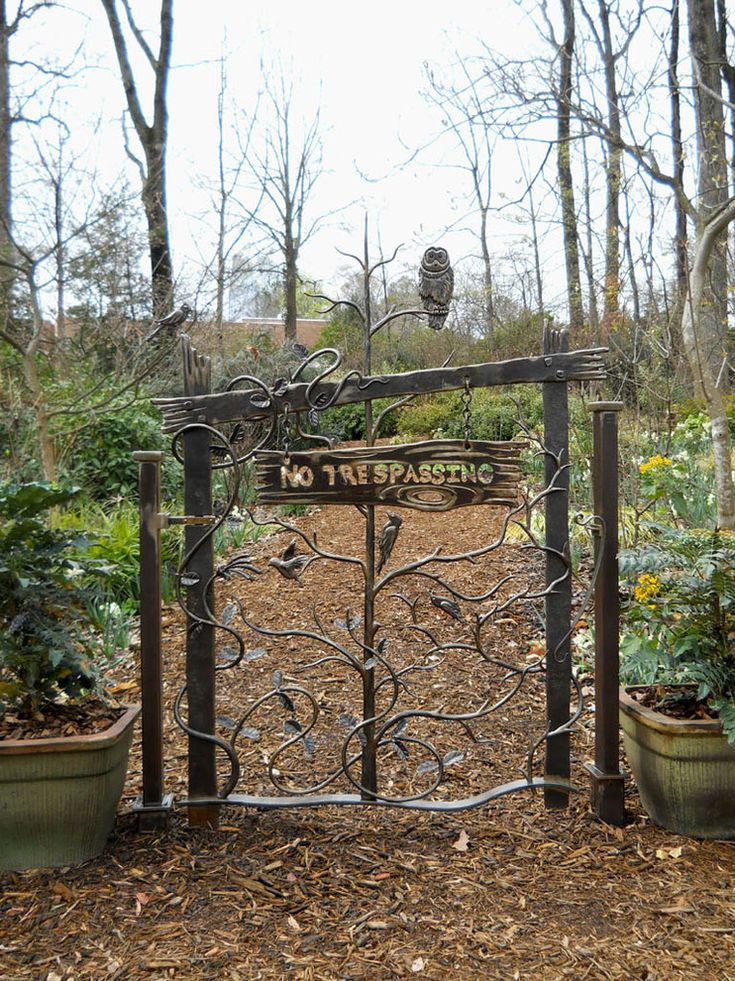 Wrought Iron Gate Designs Landscape Eclectic with None