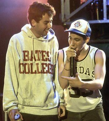 MCA and Adrock. Repping Bates College!! What!