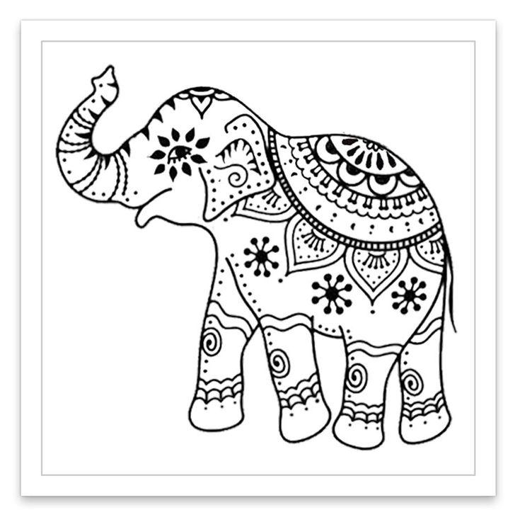 Картинки индийского слона для раскраски том