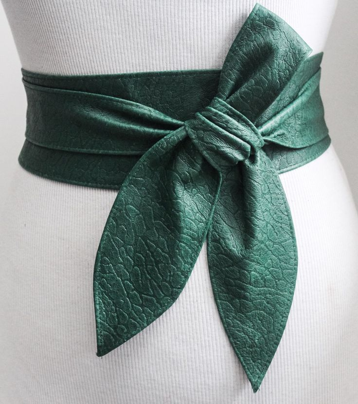 A personal favourite from my Etsy shop https://www.etsy.com/uk/listing/288408251/green-leather-obi-belt-animal-skin