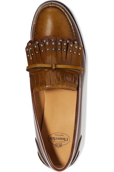 Church's - Rachel Studded Polished Leather Loafers - Tan - IT38.5