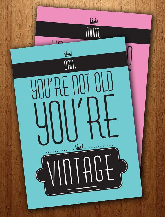 Dads Funny Vintage Birthday Card Printable On Etsy 300