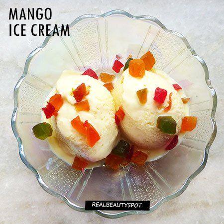 MANGO ICE CREAM RECIPE WITHOUT AN ICE CRAM MAKER