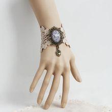 Vintage bracciali e braccialetti in pizzo damigella d'onore polso fatti a mano accessori donna gioielli gotici bracciali merletto per le donne (WS-290)  (China (Mainland))